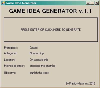 game theme generator the game idea generator mayhem glorious trainwrecks