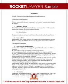 Business Term Sheet Template by Term Sheet Template Free Term Sheet With Sle