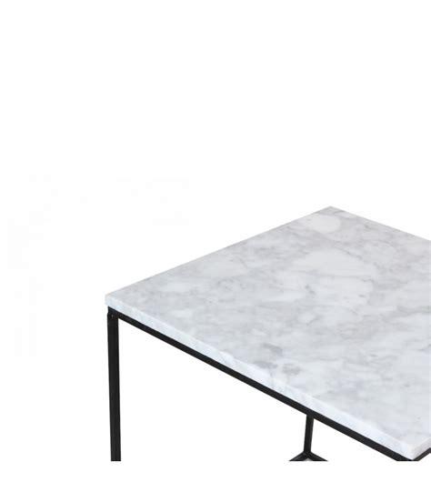 table basse metal blanc table basse carr 233 e en m 233 tal noir et marbre blanc