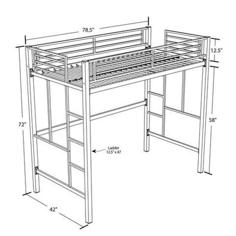 metal bunk beds with desk metal loft bed with desk walmart
