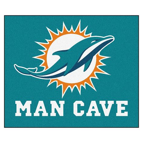 miami dolphins rug fanmats miami dolphins blue cave 5 ft x 6 ft area rug 14327 the home depot