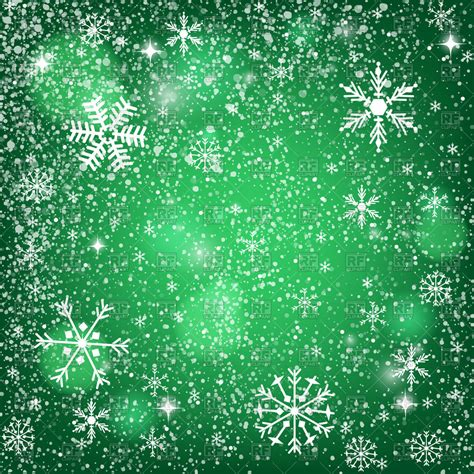 abstract green christmas background snowy pattern  snowflakes vector stock image