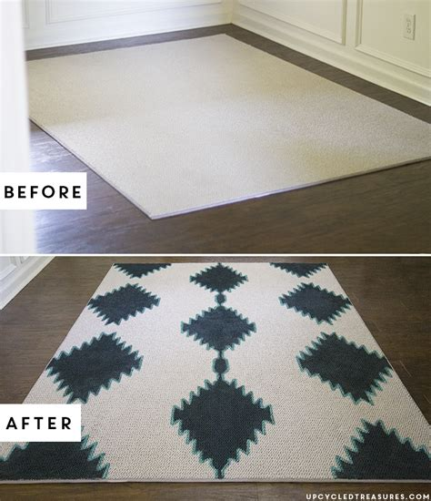 Rug Painting by Diy Painted Rug Mountainmodernlife