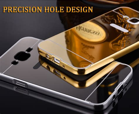 Casing Samsung Galaxy J5 Cermin Back Cover J5 Alumunium Mirror Mu jual metal bumper slide mirror back casing