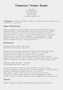 Elementary Education Resume Sample resume samples elementary teacher resume sample