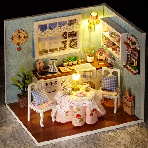 doll house room diy wooden miniatura doll house room box handmade 3d miniature dollhouse wood