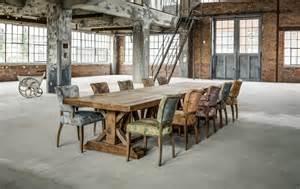 table de ferme table de cagne vintage grande bois