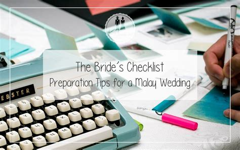 Wedding Checklist Kahwin by The S Checklist Preparation Tips For A