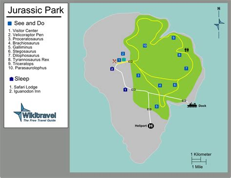 jurassic park map jurassic park on wikitravel united forum