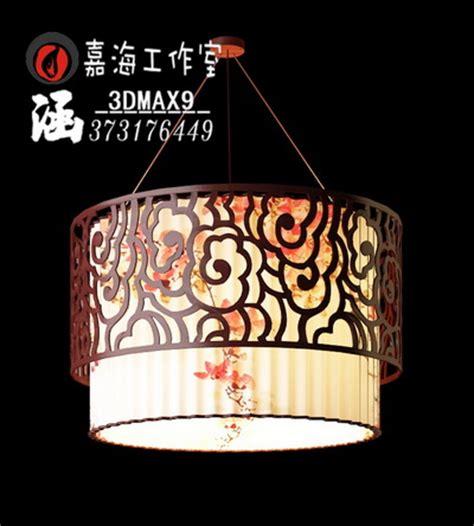 lampe suspension de style chinois 5 3d model download free