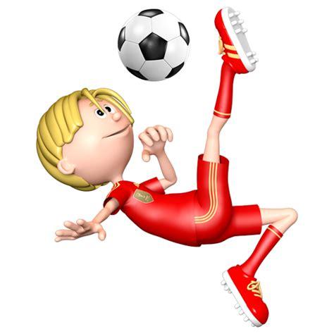 calcio clipart adesivo per i bambini di un giocatore di calcio facendo