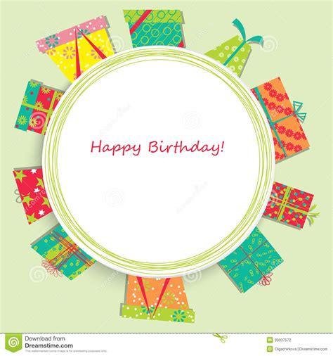 imagenes de cumpleaños vectores tarjeta del vector con el regalo de cumplea 241 os ilustraci 243 n