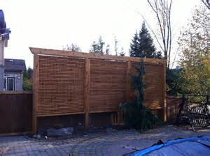 Pergola Privacy Screens by All Access Fence Amp Fabrication Privacy Screens