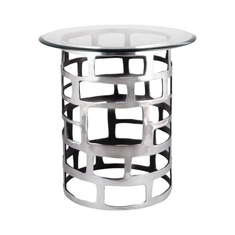at home table ls ls dimond home organic cutouts side table in silver