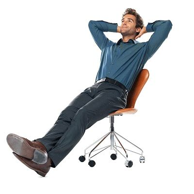 Leaning Back In Chair by General Enlargement