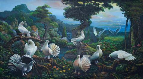 Canvas 3d 3 Dimensi Burung Hantu lukisan hewan by lukisan bagus at coroflot