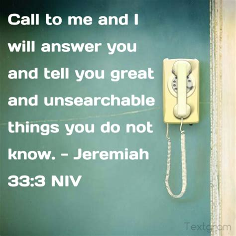 call to me and i will answer you and show you great mighty things which you do not a journal to record prayer journal for and journal notebook diary series volume 6 books visual verse jeremiah 33 3