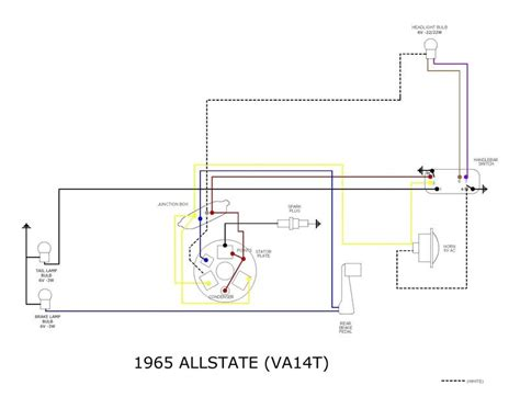 modern vespa 1964 vnb wiring question