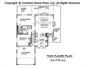 Small Country Style House Plan Sg 1275 Sq Ft Affordable House Plans Below 1300 Square
