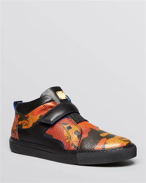 mcm sneakers for mcm sophisticated visetos low top sneakers in black for