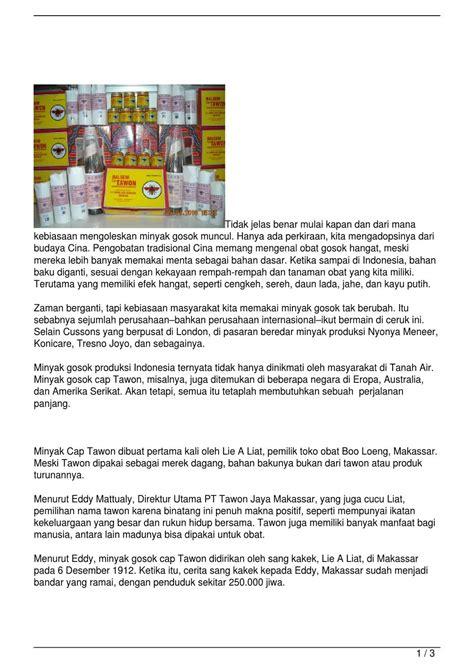 joyo lada asal usul minyak gosok cap tawon by summase sanjaya issuu