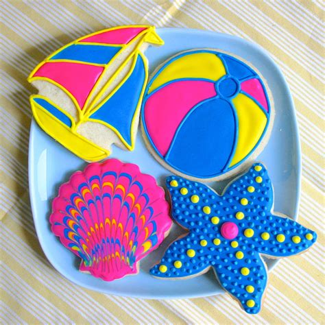 Summer Decorated Cookies by Jesicakes Summer Cookies Decorating Tutorial