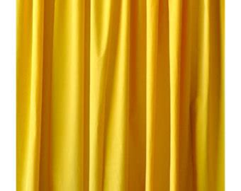 long yellow curtains yellow curtains etsy