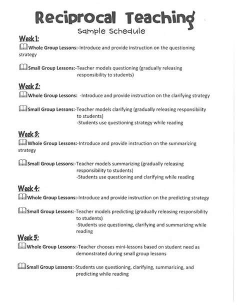 Reciprocal Teaching Worksheet by Reciprocal Teaching Worksheet Images