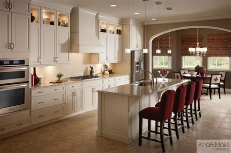 kraftmaid maple cabinetry in canvas traditional