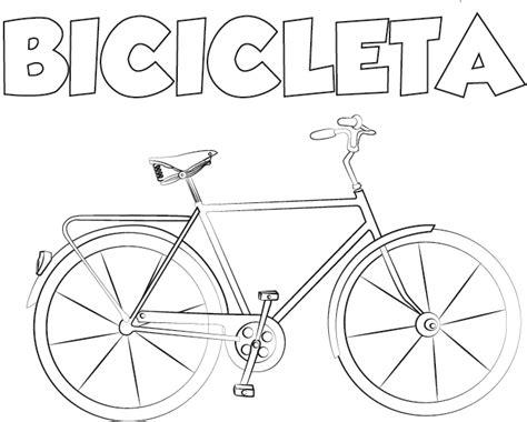 imagenes para colorear bicicleta dibujo bicicleta para imprimir y colorear