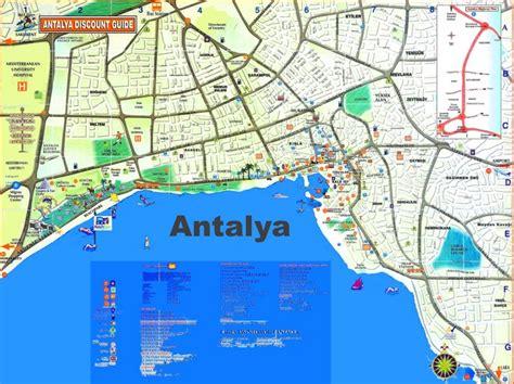 printable tourist map of turkey antalya tourist map