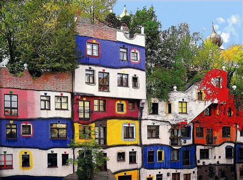 außenanlage haus quot the hundertwasser house vienna quot in german