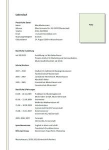 Muster Lebenslauf Schweiz 2015 Lebenslauf Vorlage Schweiz Dokument Blogs