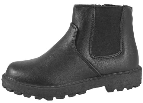 winter school shoes for boys black school shoes faux leather chelsea ankle boots