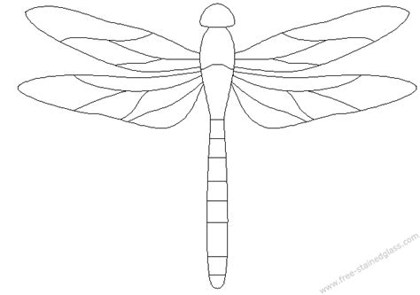 Dragonfly Outline Template by Printable Dragonfly Patterns Clipart Library