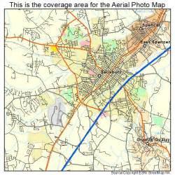 aerial photography map of salisbury nc carolina