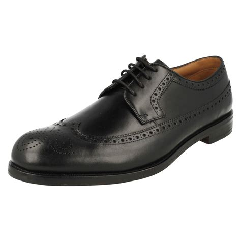 mens clarks formal brogue style lace up shoes coling