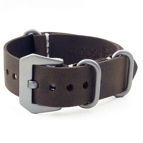Nato Leather brown vintage leather nato strapsco
