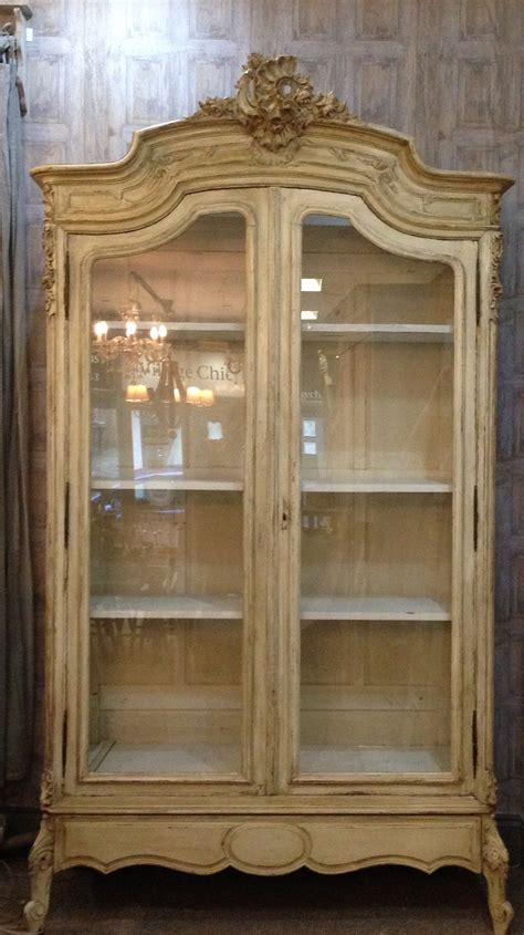 french antique armoire vitrine painted louis xv