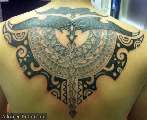 adorned tattoo tahitian style tribal back adorned