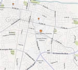 map of east carolina east carolina accreditation tuition