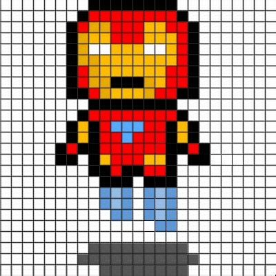 Home Design Graph Paper by Basic Pixel Art The Iron Man Collection Minecraft Pixel