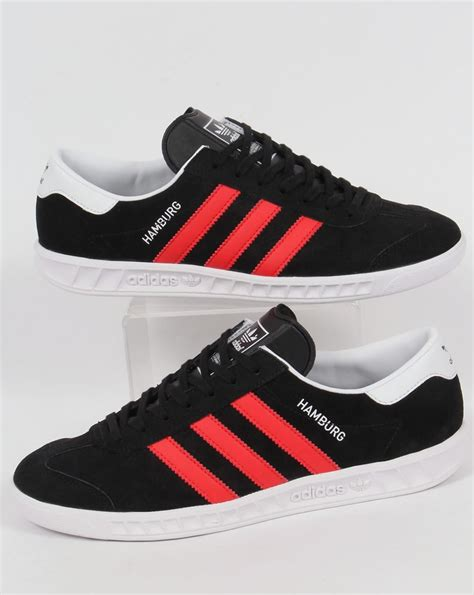 adidas hamburg black adidas hamburg trainers black red white originals shoes mens