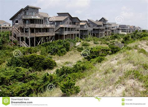 obx houses row outer banks houses stock image image 11191561