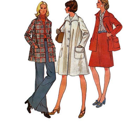 pattern for a line coat 1970s raglan sleeve a line swing coat from design rewind