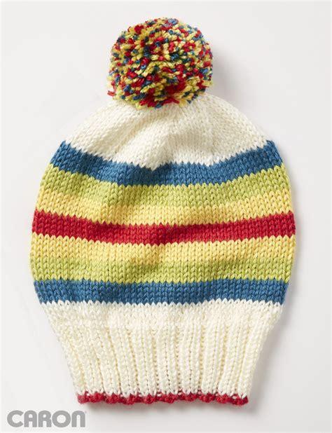 caron yarnspirations caron polychromatic hat knit pattern yarnspirations