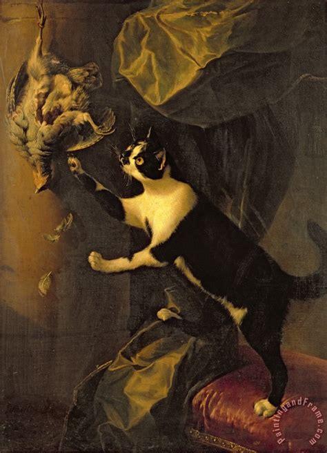 Alexandre Francois Desportes Cat And Dead Painting