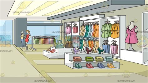 a clothing store for background clipart