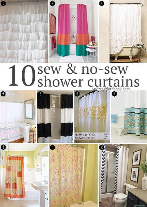 diy no sew shower curtain 10 diy shower curtains sew and no sew andrea s notebook