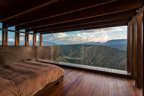 bedroom view mountain home with incredible views in ecuador